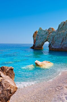 """17. Lalária, Skiathos    """"Skiáthos was the first northern Sporade to be developed, back in the    mid-1960s,"""" says Marc Dubin. """"It's not hard to see why, with more    than 50 beaches lapped by an almost Caribbean-coloured sea.""""   Be sure to take a round-the-island boat trip, via sea-caves and    postcard-worthy Lalária beach – both inaccessible by land.    • Skiathos    travel guide"""