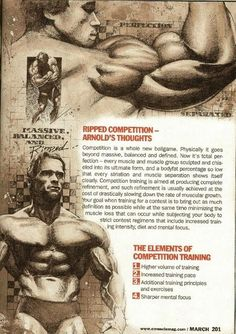 PART Training Secrets Of The Oak on The 5 Chambers Of Fitness curated by Carlos Newsome Bodybuilding Workouts, Bodybuilding Motivation, Men's Bodybuilding, Bodybuilding Nutrition, Arnold Schwarzenegger Workout, Arnold Schwarzenegger Bodybuilding, Arnold Training, Arnold Workout, Arnold Gym