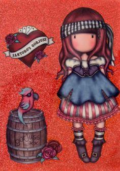 Santoro London, Diy Organization, Marker, Chibi, Little Girls, Scrapbooking, Stamp, Draw, Dolls