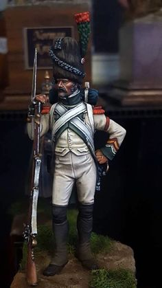 Granatiere della fanteria di linea francese Military Figures, Military Diorama, Military Art, First French Empire, Warrior Paint, War Image, Military Modelling, French Army, Napoleonic Wars