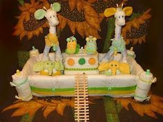 Love, love, love this diaper cake!