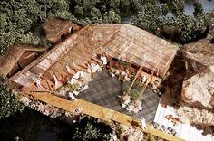 村の賃貸住宅――Philippines Bohole island 復興住宅計画 Architecture Images, Architecture Student, Concept Architecture, Landscape Architecture, Roof Design, Cafe Design, Japan Design, Resort Plan, Bamboo Building