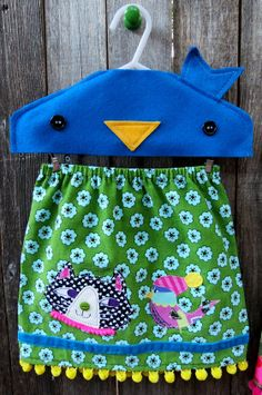 Peep and Pussycat Skirt by FreckledChicken on Etsy, $34.00