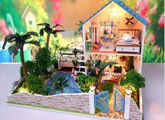 New arrvial DIY Model Romatic lover House Assemble miniatura Villa Doll Home/Wood DIY hut/ girlfriend gift