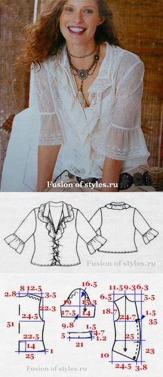 Женская блузка из кружева | Всё о моде, стиле, шитье и рукоделии СЛИЯНИЕ СТИЛЕЙ