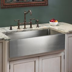 27 Apron Sink : about 1920s Sink Options on Pinterest Stainless steel kitchen sinks ...