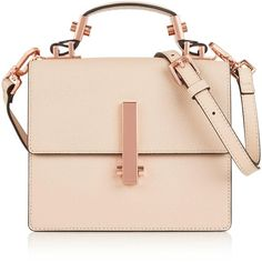 Kendall + Kylie Mini Minato Shoulder Bag (1,125 GTQ) ❤ liked on Polyvore featuring bags, handbags, shoulder bags, purses, purses/backpacks, cream, shoulder strap handbags, long strap purse, mini leather backpack and leather backpack purse