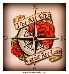 compass tattoo with quote - Google Search