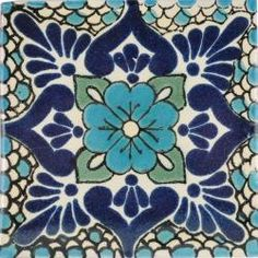 Polanco 3 - Mexican Talavera Handcrafted Tile (no orange accent) mexicantiles.com