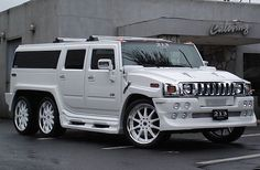 Looking to customize your Hummer? We carry a wide variety of Hummer accessories including dash kits, window tint, light tint, wraps and more. Hummer Cars, Hummer Truck, 6x6 Truck, Hummer H2, Suv Trucks, Diesel Trucks, White Hummer, Luxury Suv, Limousine