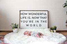 Baby born room frames 20 ideas for 2019 Newborn Pictures, Baby Pictures, Baby Photos, Milestone Pictures, Nursery Wood Sign, Rustic Nursery, Boho Stil, Baby Born, Its A Wonderful Life
