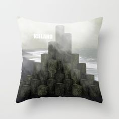 Shades of grey from Iceland Throw Pillow by Prdart | Society6  #art #design #interior #throwpillow #iceland #fog #black #white #grey #shades #homedecor #interiordesign