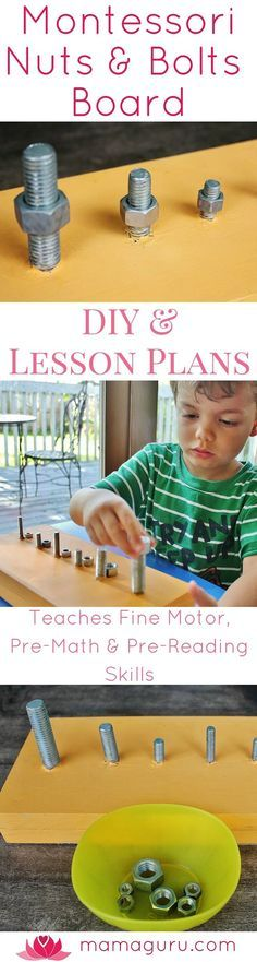A Montessori Nuts and Bolts Board helps children develop fine motor skills which are essential to learning how to write, while at the same time…