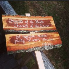 Friends of the bride friends of the groom sit together there's plenty of room wedding sign custom with your names and date on Etsy, $34.00