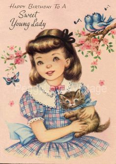 Vintage Child's Birthday Greeting Cards CD V. 2   eBay