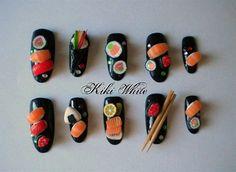 sushi nail art                                                                                                                                                                                 More