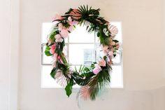 DIY tropical wreath