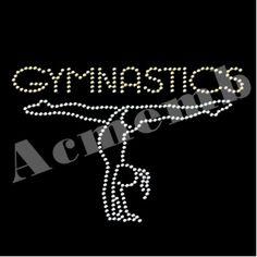 Wholesale Bling Gymnastic Rhinestones Hotfix Transfers