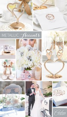 All this snow and cold weather has us day dreaming of warmer temperatures. And of course warm weather reminds of us of wedding season! Visions of beautiful hues and fabulously decorated weddings flash before our eyes and we just have to share our amazing idea for a metallic accented wedding!  Star