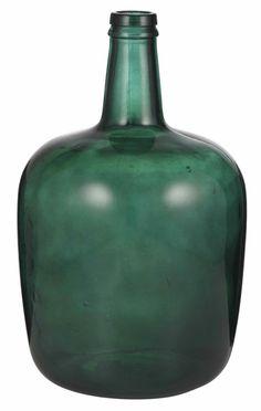 Emerald spanish demijohn bottle.
