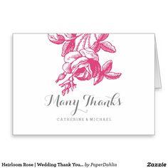 Heirloom Rose | Wedding Thank You Cards