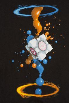 J!NX : Portal 2 Gel Splatter Premium Tee - Clothing Inspired by Video Games  Geek Culture