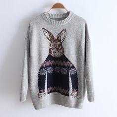 Cute rabbit sweater