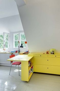 Functional Attic Office Designs
