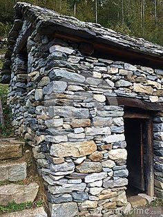 This quaint and interesting little stone building was designed for drying the chestnut harvest by Swiss Italians of the old world. This is at Ballenberg museum in Switzerland Vernacular Architecture, Museum, Travel Europe, Backyards, Old World, Switzerland, Harvest, Perspective, Old Things