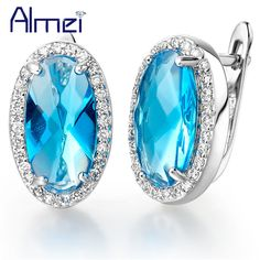 Find More Stud Earrings Information about Ear Cuff Vintage Earrings with Blue Rhinestone Simulated Oval Diamond Cubic Zircon Big Earrings Women's Day Gift Ulove R141,High Quality earring s,China earring retro Suppliers, Cheap earrings kate from Almei Jewelry Store on Aliexpress.com