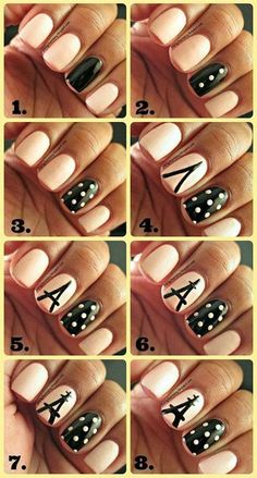 17 Super Simple Nail Artwork Patterns and Ideas | Nail2016 Model Haircut and hairstyle ideas