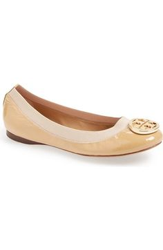 Tory Burch  Caroline  Ballerina Flat (Women) available at  Nordstrom  Classic Leather 543cd0dc1f5d