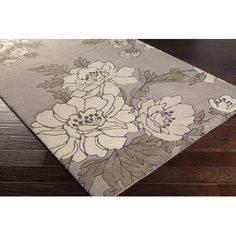 Surya Mount Perry Hand-Tufted Taupe/Light Gray Area Rug Rug Size: 8' x 11'