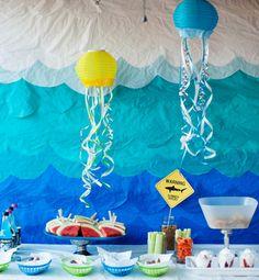 Party Plan: Keep Swimming Ocean Pool Party - Frys Food  Shark week!