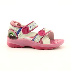 Pink sandals children's shoes for water Rider 80608 shades of pink Swimming Sport, Pink Sandals, Comfortable Heels, Childrens Shoes, Blue Accents, Velcro Straps, Sports Shoes, Two By Two, Footwear