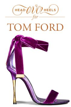 Magenta velvet Tom Ford stilettos. My God, these are amazing.