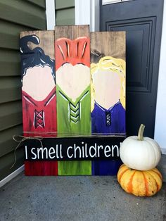 I smell children sign, halloween porch decor, hocus pocus sign - Realty Worlds Tactical Gear Dark Art Relationship Goals Halloween Porch Decorations, Halloween Home Decor, Holidays Halloween, Porch Ideas For Halloween, Halloween Decorating Ideas, Hocus Pocus Halloween Decor, Wooden Halloween Signs, Rustic Halloween, Farmhouse Halloween