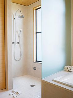 Etched Glass Shower Panel