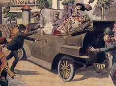 De strijd begon in Oosterijk-Hongarije, Sarajevo, door de aanslag op prins Franz Ferdinand.