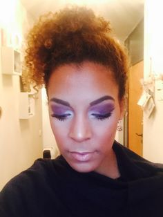 Purple white make up  Eyes closed Ebony Curls Make up is art  Eyeshadow focus
