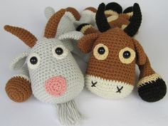 Goat Lisa Amigurumi Crochet Pattern / PDF e-Book / by DioneDesign