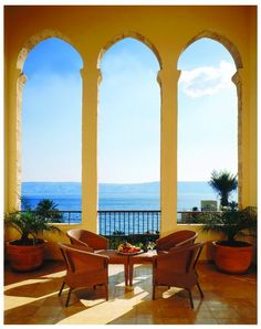 On the shores of Sea of Galilee, Israel, historic Scots Hotel, with luxurious spa and massage treatments.