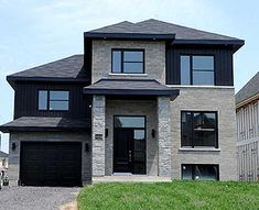 3 Bed Euro Contemporary Home Plan - thumb - 01 Contemporary Home Furniture, Contemporary House Plans, Modern House Plans, Modern House Design, Architectural Design House Plans, Architecture Design, Bathroom Layout Plans, European House, Dream House Exterior