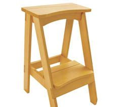 There aren't many projects that are Take a load off your feet and reach new heights with this classic stool. Not many projects are attractive, useful, easy-to-build and inexpensive. But this kitchen stool hits on all four notes.