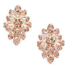 GORGEOUS!!! Hard to find copper color crystal clip on earrings! Talk about sparkle! Clip earrings are hard to find! Fear not! La De Da not only has Clip earring