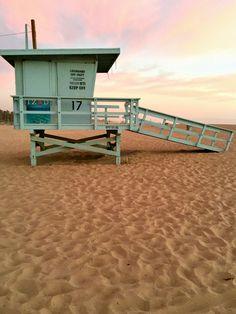 Sunsets on Santa Monica Beach