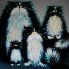 cat family / arts and illustrations