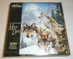 NEW SEALED - Wolf Themed 500 Piece Jigsaw Puzzle Moon Dancers Nature Animals #Prism
