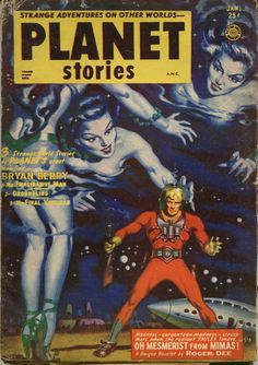 Pulp magazine Planet Stories, Jan 1953 vol 5 no. 10. Cover by A.G. Anderson