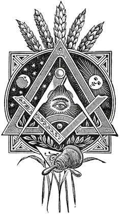 freemason all seeing eye, esoterica, wheat Masonic Art, Masonic Symbols, Masonic Order, Symbole Triangle, Masonic Tattoos, Freemason Tattoo, Art Tumblr, Eastern Star, Pattern Tattoos